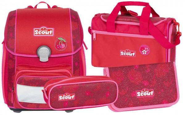 Scout Genius Schulranzen-Set 4tlg. Cherry Red