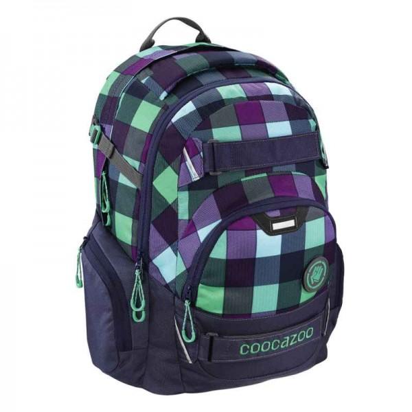 Coocazoo Schulrucksack Carry Larry 2 Green Purple District