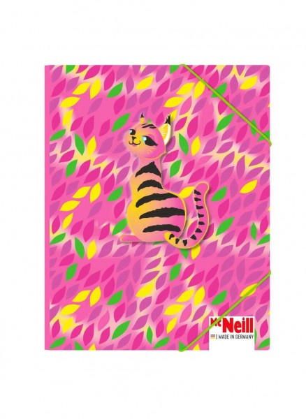McNeill Gummizugmappe DIN A4 Crazy Cat