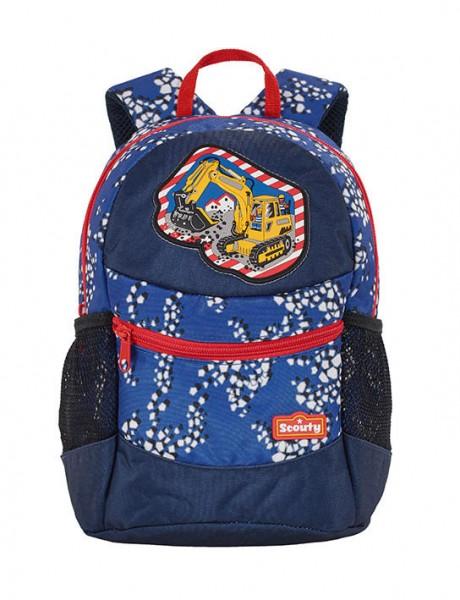 Scouty Kindergarten-Rucksack Motiv Baustelle