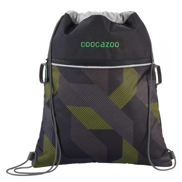 Coocazoo Sportbeutel Turnbeutel RocketPocket2 Polygon Bricks Grey