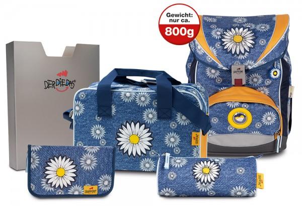 DerDieDas ErgoFlex XL Schulranzen-Set 5tlg. Daisy