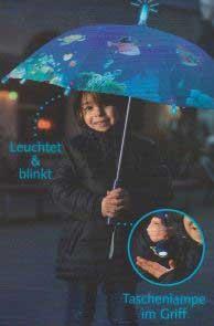 Kinder Regenschirm Captn Sharky Tiefsee mit Licht und Blinkeffekt
