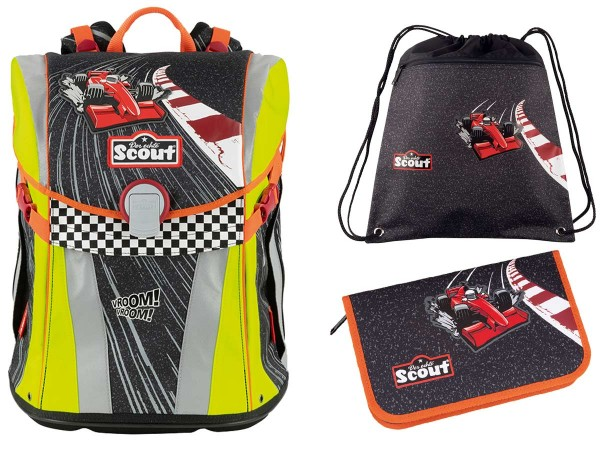 Scout Sunny Schulranzen-Set 3tlg. Red Racer