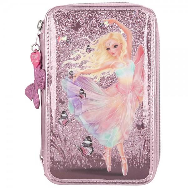 3-fach Federmäppchen Federmappe Depesche FantasyModel Glitter Ballerina