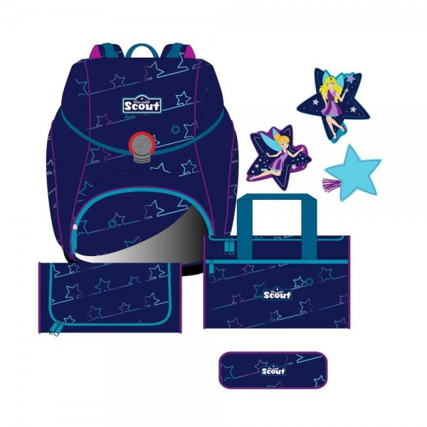 Scout Alpha Schulranzen-Set 4tlg. Blue Star