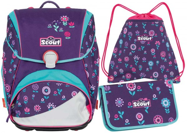 Scout Alpha Schulranzen-Set 3tlg. Blueberry