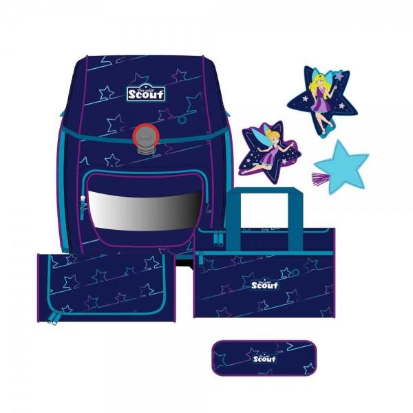 Scout Genius Schulranzen-Set 4tlg. Blue Star