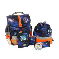 School Mood Timeless MB Schulranzen Set 7tlg Galaxy Weltraum