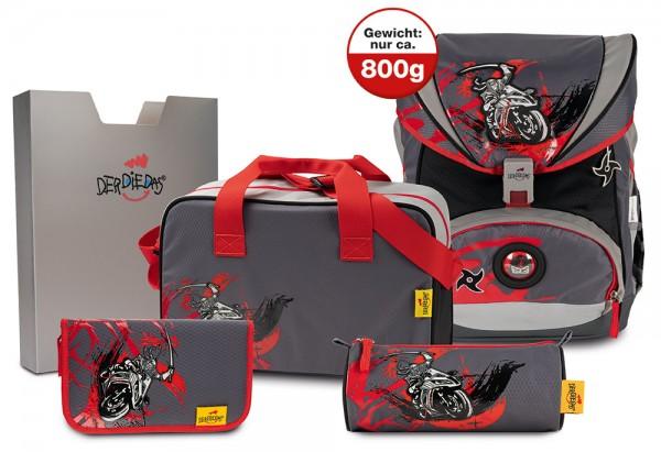 DerDieDas ErgoFlex XL Schulranzen-Set 5tlg. Ninja on Bike