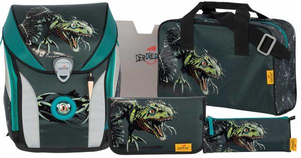 DerDieDas ErgoFlex MAX Schulranzen-Set 5tlg. Dino Attack