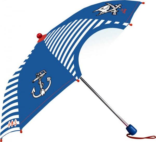 Capt`n Sharky Taschenschirm / Regenschirm mit Hülle