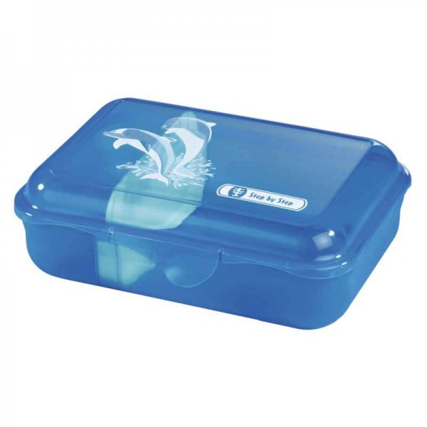 Step by Step Lunchbox Brotzeitbox Happy Dolphins