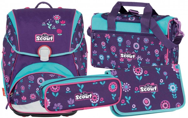 Scout Alpha Schulranzen-Set 4tlg. Blueberry