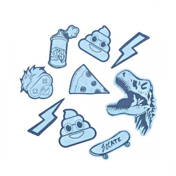 """coocazoo Reflektierendes Sticker-Set """"StickyRicky"""", Blue"""