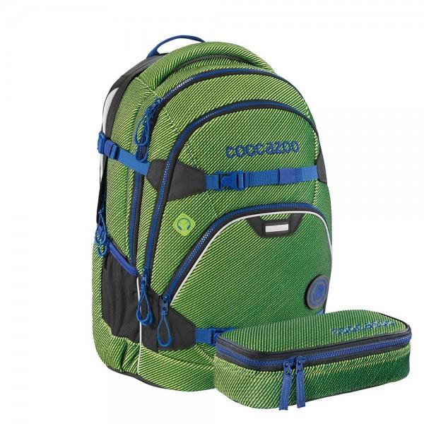 Coocazoo Schulrucksack-Set ScaleRale FreakaSneaka Chameleon Green
