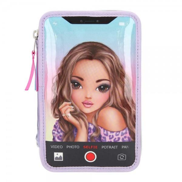 3fach Federmäppchen TOP MODEL Smartphone Selfie