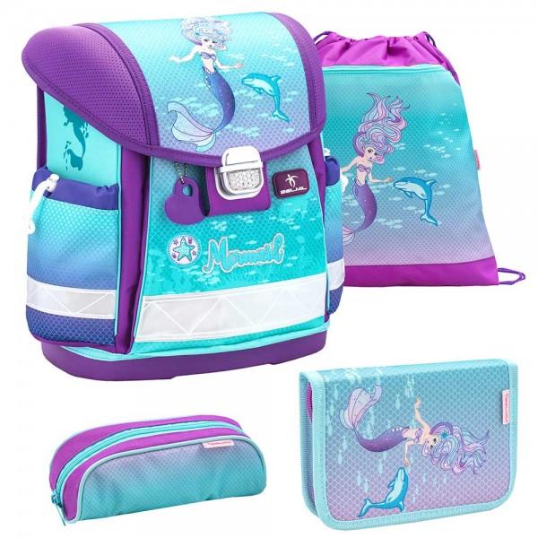 Belmil Classy Schulranzenset 4-teilig Purple Mermaid