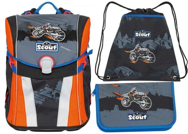 Scout Sunny Schulranzen-Set 3tlg. Dark Ninja