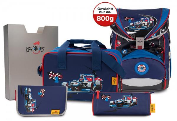 DerDieDas ErgoFlex XL Schulranzen-Set 5tlg. Racing