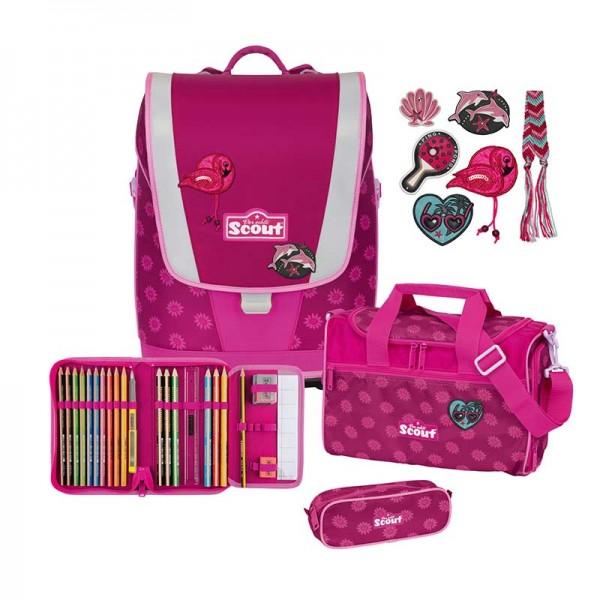 Scout Ultra Schulranzenset 4tlg. Motiv Pink Daisy