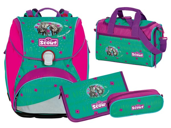 Scout Alpha Schulranzen-Set 4tlg. Summer Green