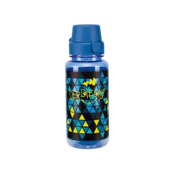 DerDieDas Trinkflasche Blau