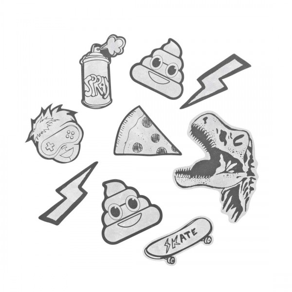 "coocazoo Reflektierendes Sticker-Set ""StickyRicky"", Black"