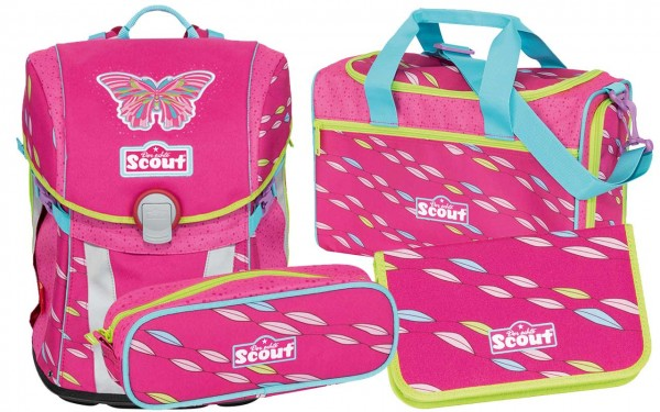 Scout Sunny Schulranzen-Set 4tlg. Pink Butterfly