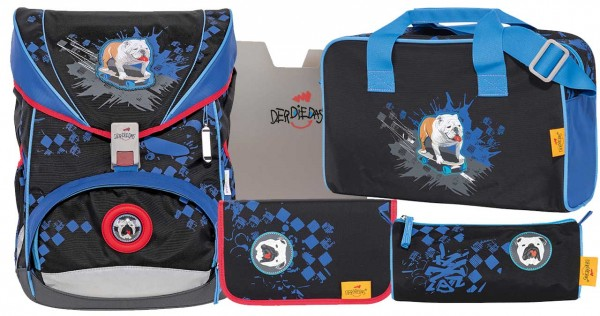 DerDieDas ErgoFlex Schulranzen-Set 5tlg. Skate Dog