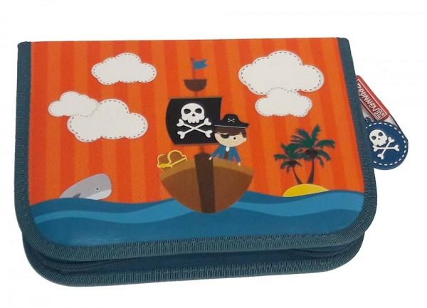 Federmäppchen Pirat mit 2 Innenklappen (befüllt)