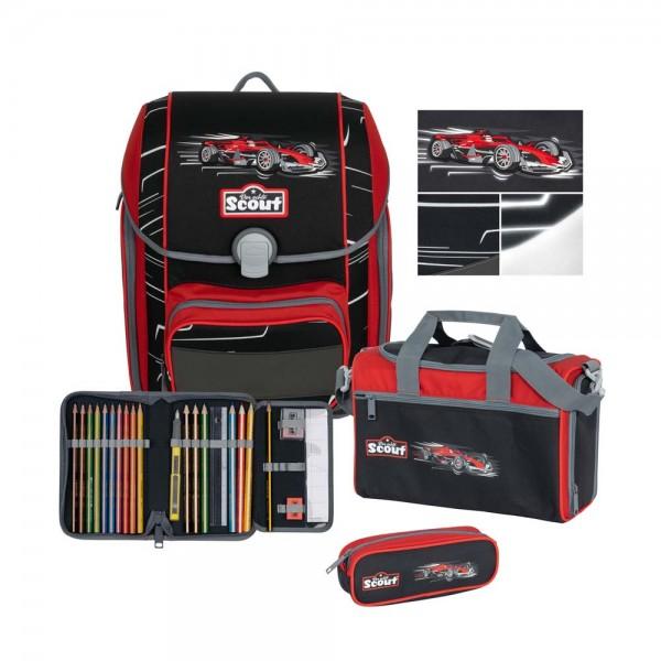 Scout Genius Premium Schulranzen-Set 4tlg. Monza