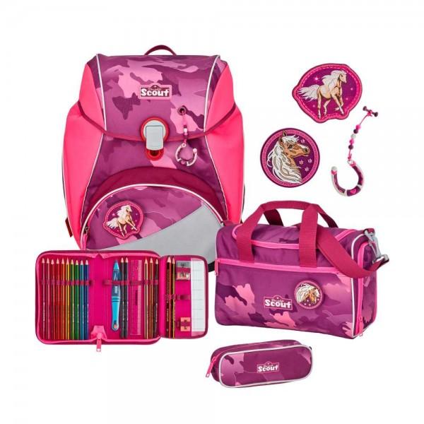 Scout Alpha Schulranzen-Set 4tlg. Pink Horse