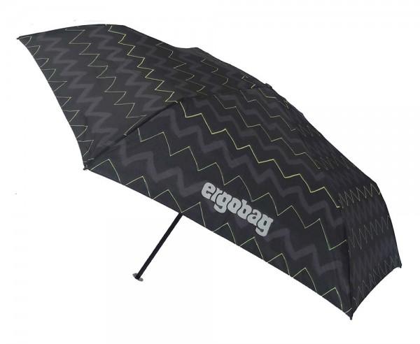 Ergobag Kinder Regenschirm Drunter und DrüBär mit Reflektor