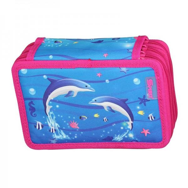 3-fach Federmäppchen Spirit Dolphins