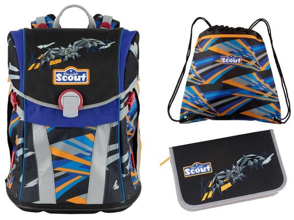 Scout Sunny Schulranzen-Set 3tlg. Bat Robot