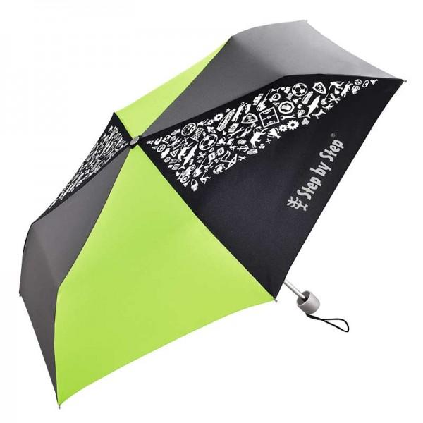 "Step by Step Kinder Regenschirm Green & Grey mit ""Magic Rain Effekt"""