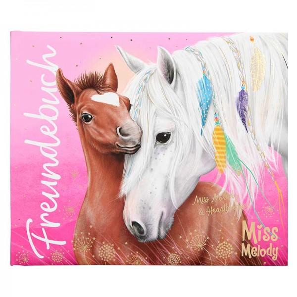 Freundebuch Miss Melody mit Pferden für Pferdefreunde