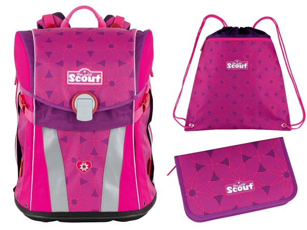 Scout Sunny Schulranzen-Set 3tlg. Pink Flowers