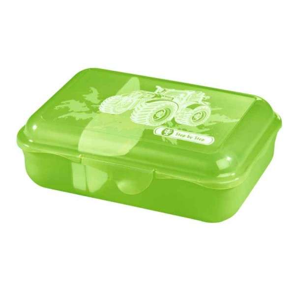 Step by Step Lunchbox Brotzeitbox Green Tractor