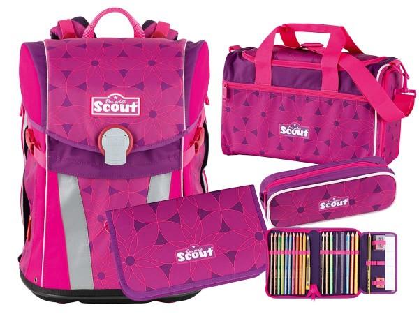 Scout Sunny Schulranzen-Set 4tlg. Pink Flowers