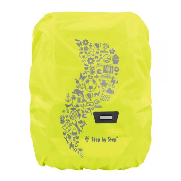 Step by Step Regenschutzhülle für Schulranzen (gelbe Leuchtfarben)
