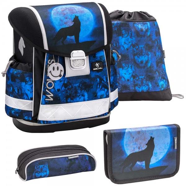 Belmil Classy Schulranzenset 4-teilig Wolves Blue