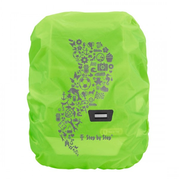 Regenschutzhülle für Schulranzen (grüne Leuchtfarben)