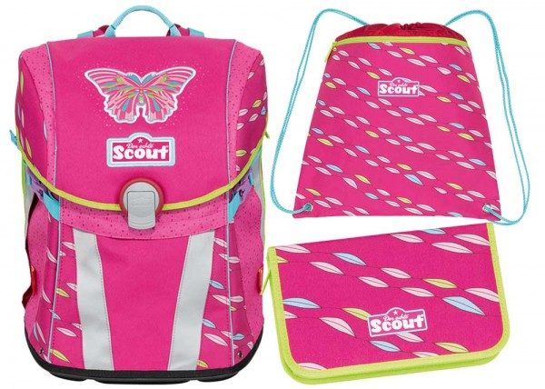 Scout Sunny Schulranzen-Set 3tlg. Pink Butterfly