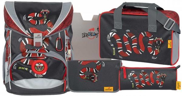 DerDieDas ErgoFlex Superlight 5tlg. Schulranzenset Snake