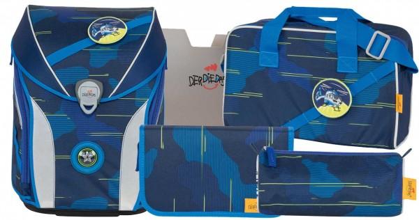 DerDieDas Ergoflex MAX Schulranzen-Set 5tlg. Le Blue Laser
