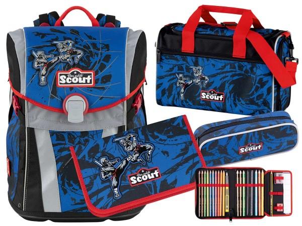 Scout Sunny Schulranzen-Set 4tlg. Warrior