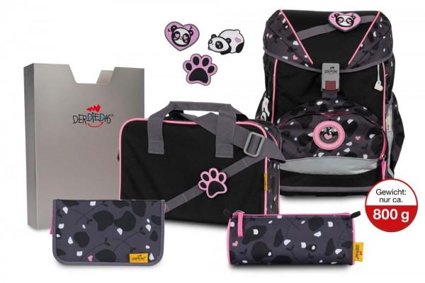 DerDieDas ErgoFlex Buttons Schulranzen-Set 5tlg. Pink Panda
