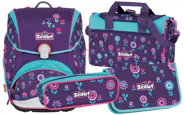 Scout Sunny Schulranzen-Set 4tlg. Blueberry